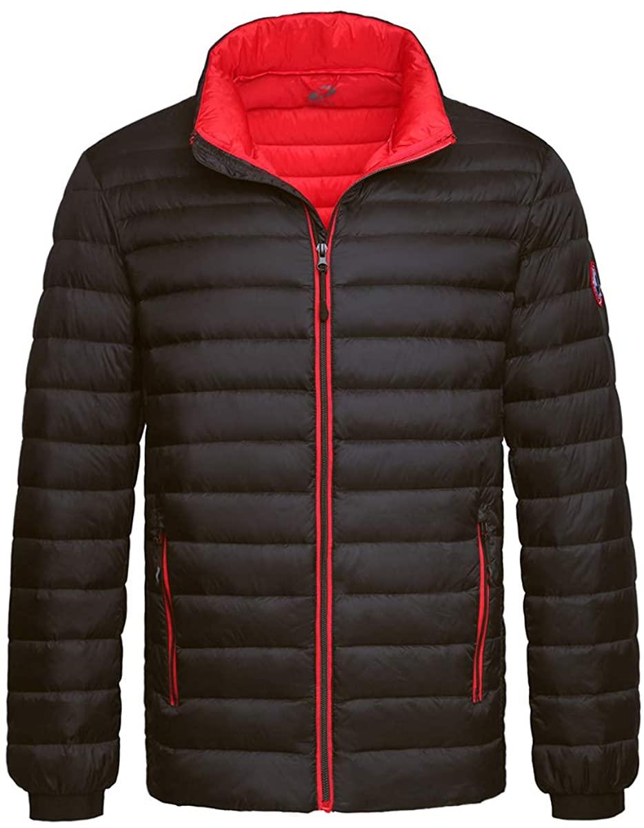 Rokka&Rolla Mens Lightweight Packable Down Puffer Jacket