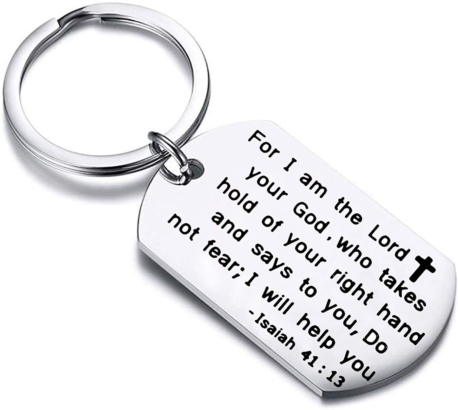 Gzrlyf Bible Verse Keychain Isaiah 41 13 Gifts for I am The Lord Your God Scripture Gifts
