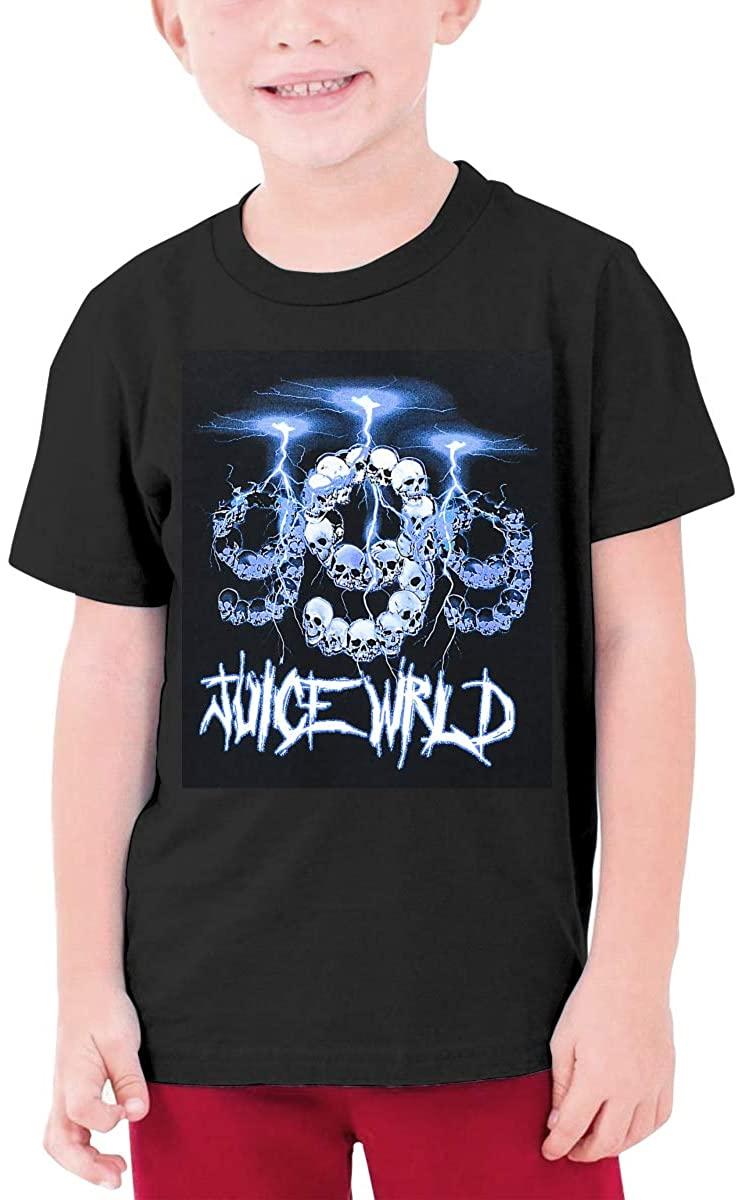 Boy/Girl Casual Top,Juice Wrld Skull Teenage Short-Sleeved T-Shirt