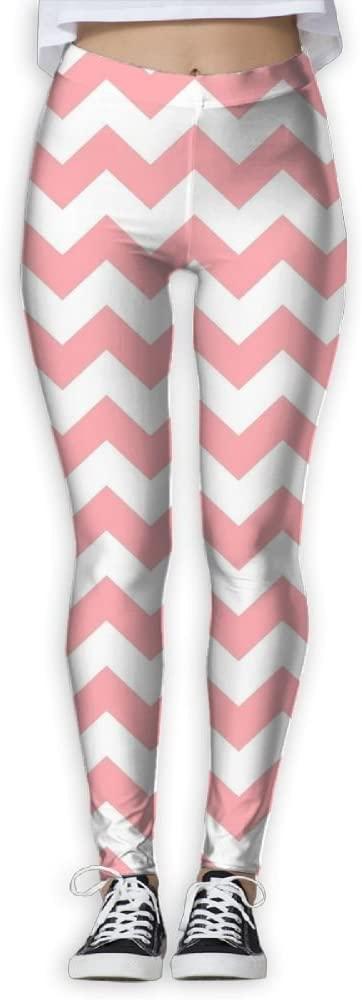 PIOL Womans Pink Stripes High Waist Skinny Leggings Yoga Jogger Sweatpants