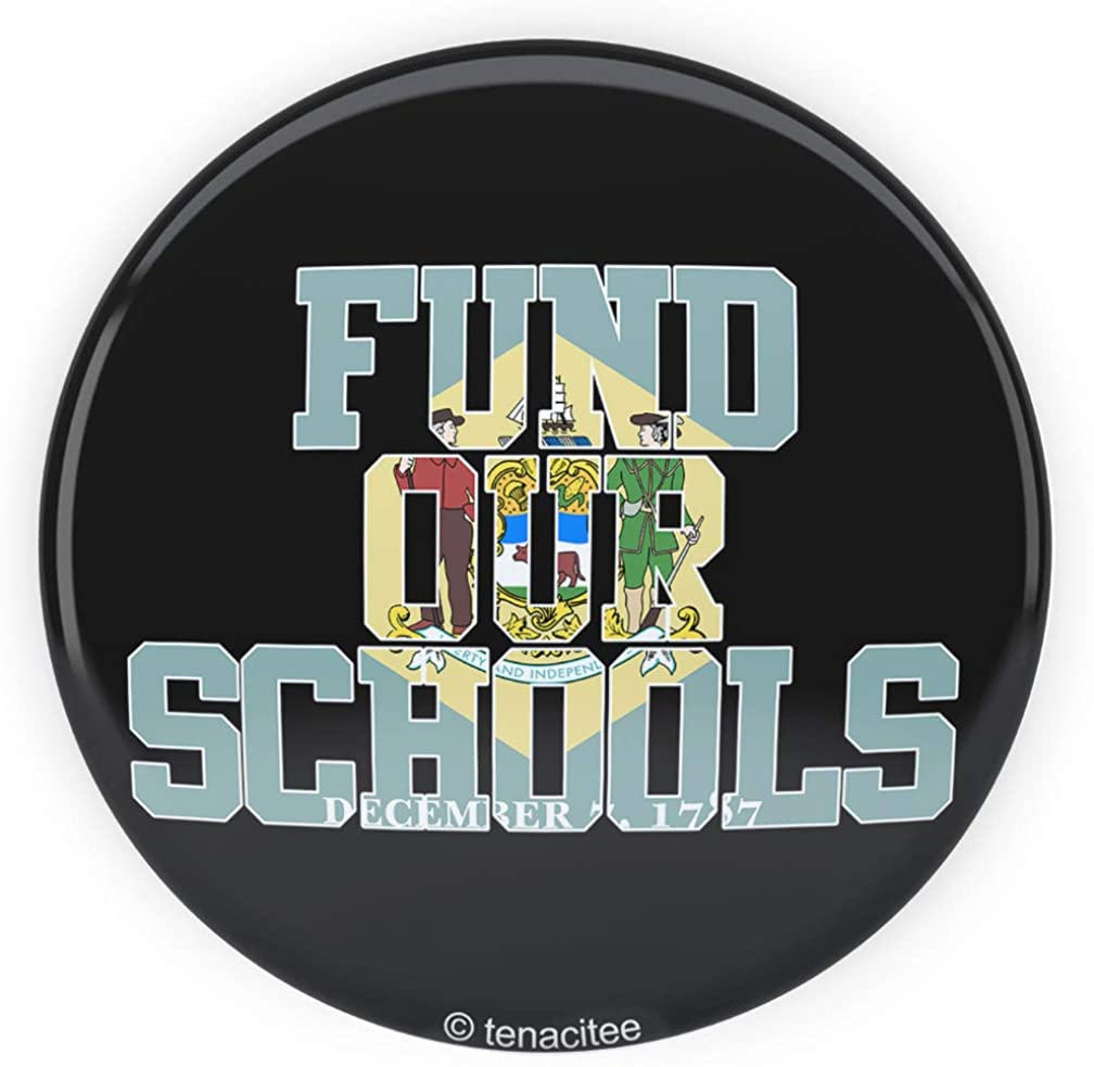 Tenacitee Fund our Delaware Schools Pinback Button