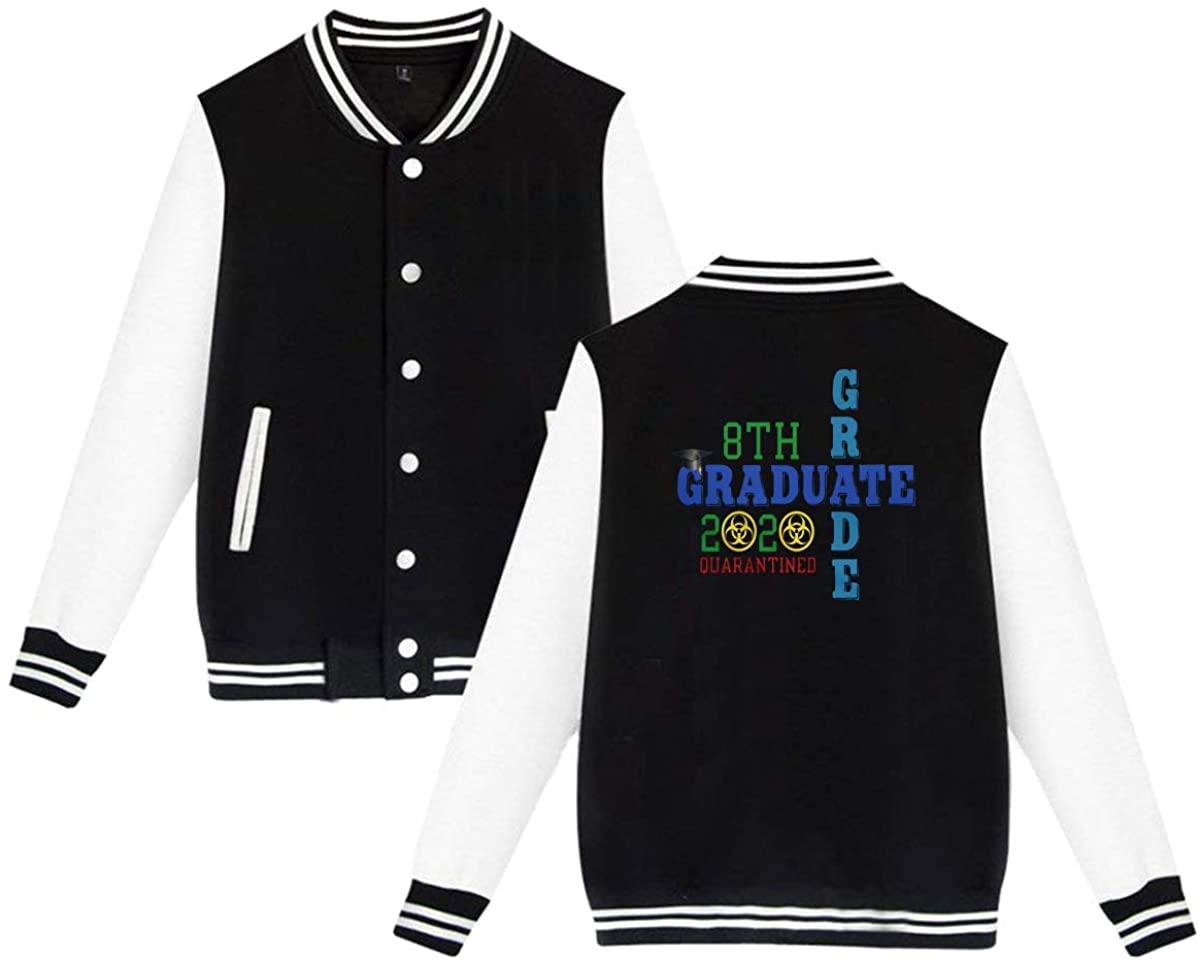 Xiongminqing Unisex 8th Grade Graduate Quarantined 2020 Baseball Uniform Jacket Sport Coat