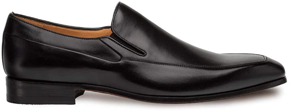 Mezlan Tula - Mens Luxury Dress Slip Ons - Lightweight Venetian Dress Slip-On - Smooth European Calfskin Loafer - Handcrafted in Spain - Medium Width (11.5, Black)