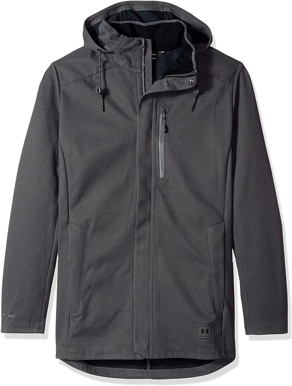 Under Armour Men's Wool Town Coat, Rhino Gray/Black, Small