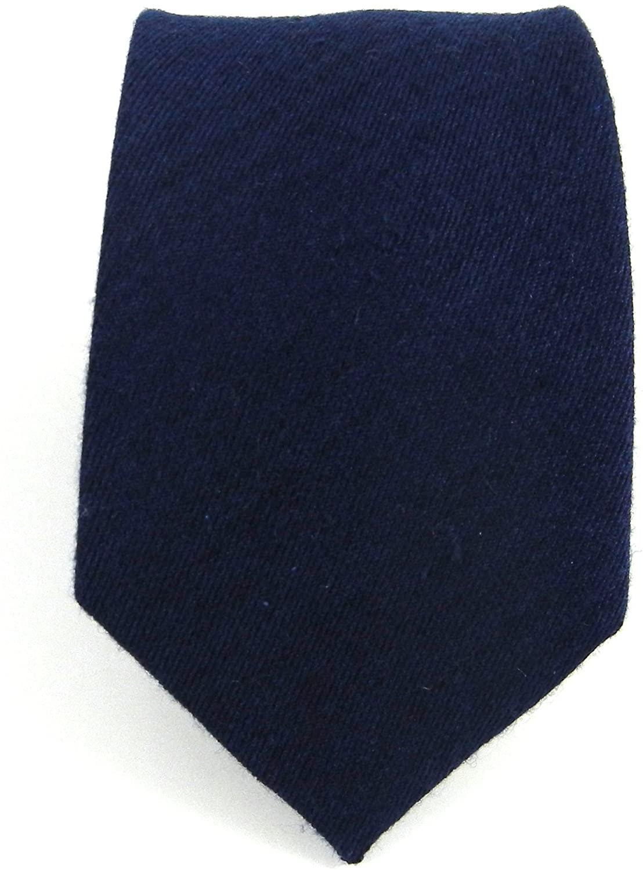 The Tie Bar Wool Skinny Navy Solid Tie