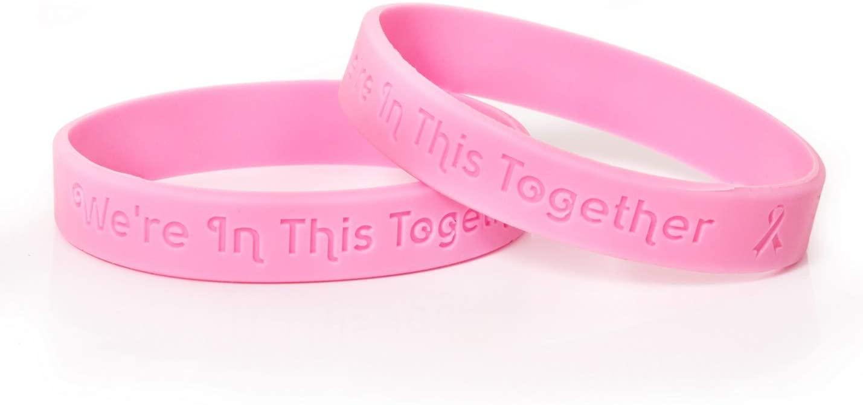 Breast Cancer Awareness Silicone Bracelets - 50 Bracelets