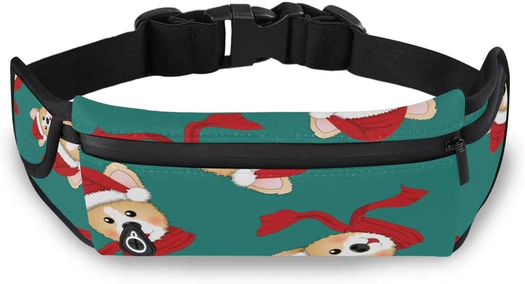 Fashionable Cool Scarf Dog Men Fanny Packs Waist Packs For Women Womans Fashion Bags With Adjustable Strap For Workout Traveling Running
