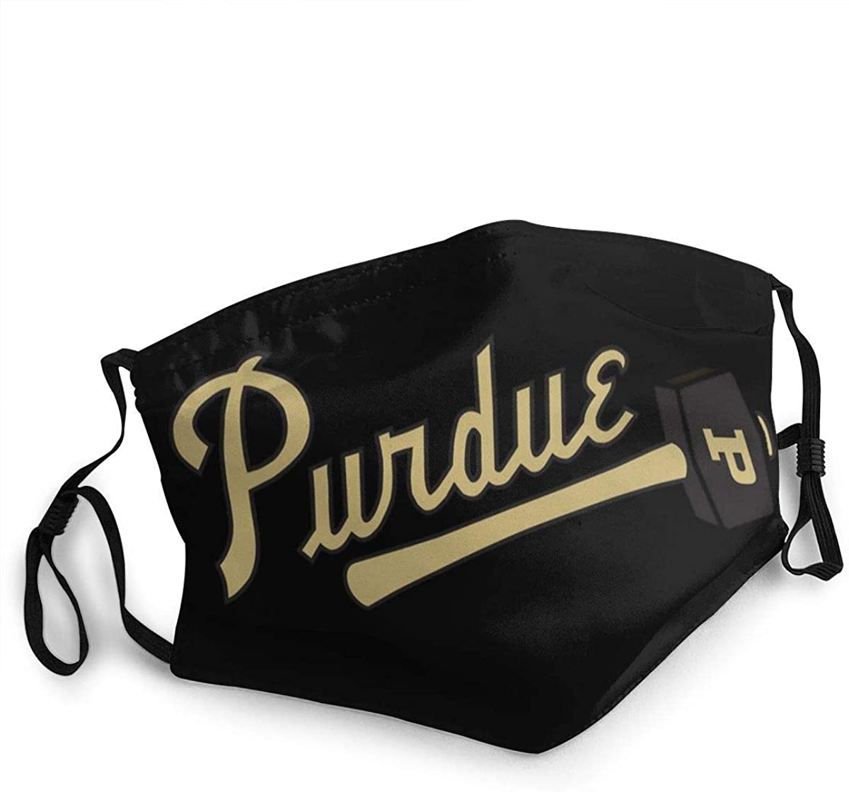 Dust Face Mask Cover Cloth Breathable Reusable Graphic Printed Dust-Proof with Purdue Boilermakers Adjustable Mouth Masks Suitable for Home, Office, Outdoor - Made in USA