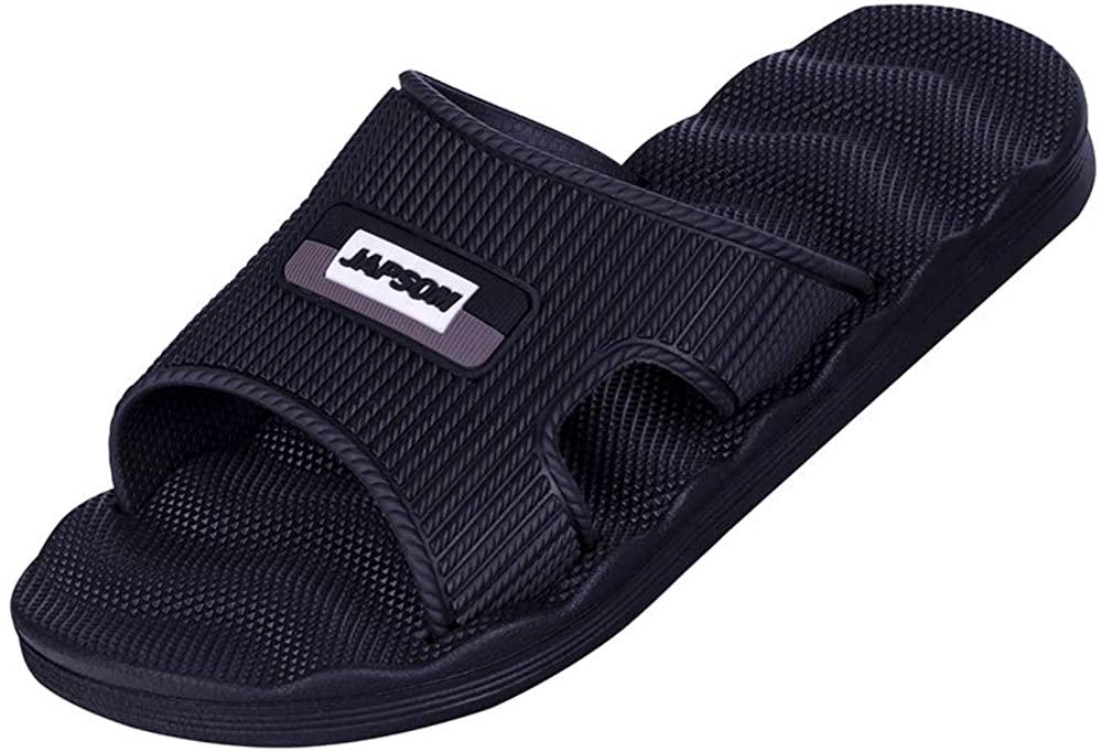 WENBER Shower Sandals Men's Quick Drying Bathroom Slippers