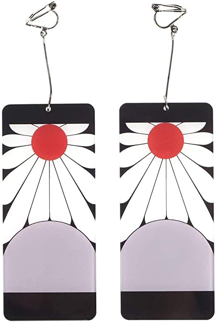 Kamado Tanjirou Earrings for Demon Slayer Kimetsu no Yaiba Cosplay