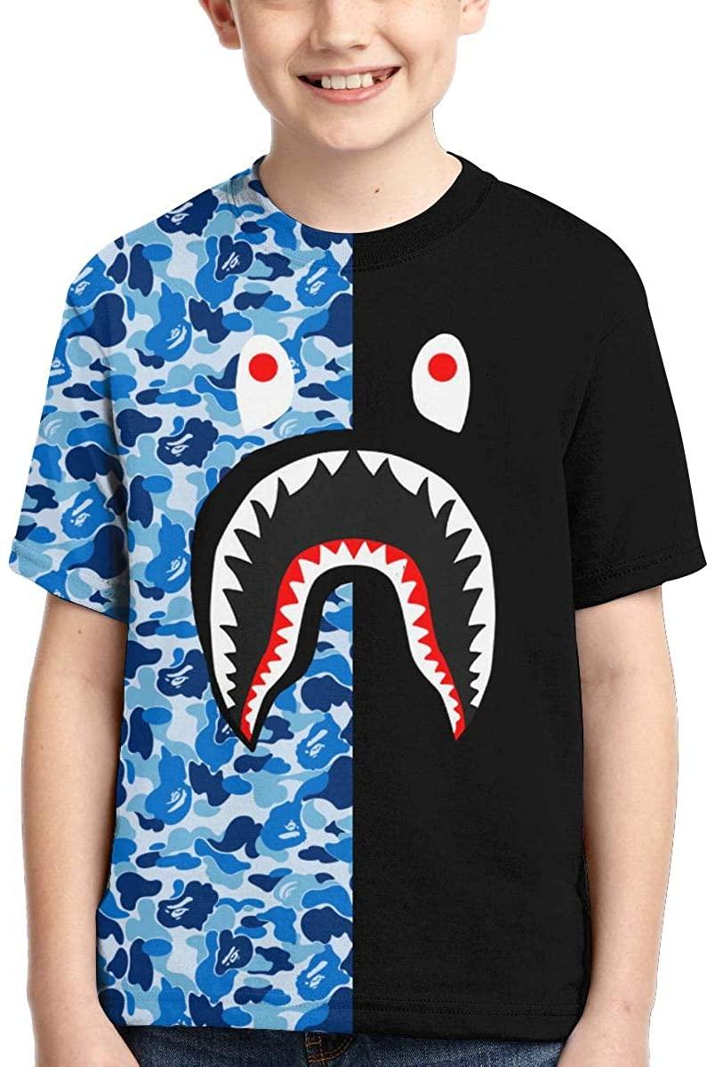 Blood Shark Style Kids 3D Print Shirt Toddler's 100% Polyester Cool T-Shirt