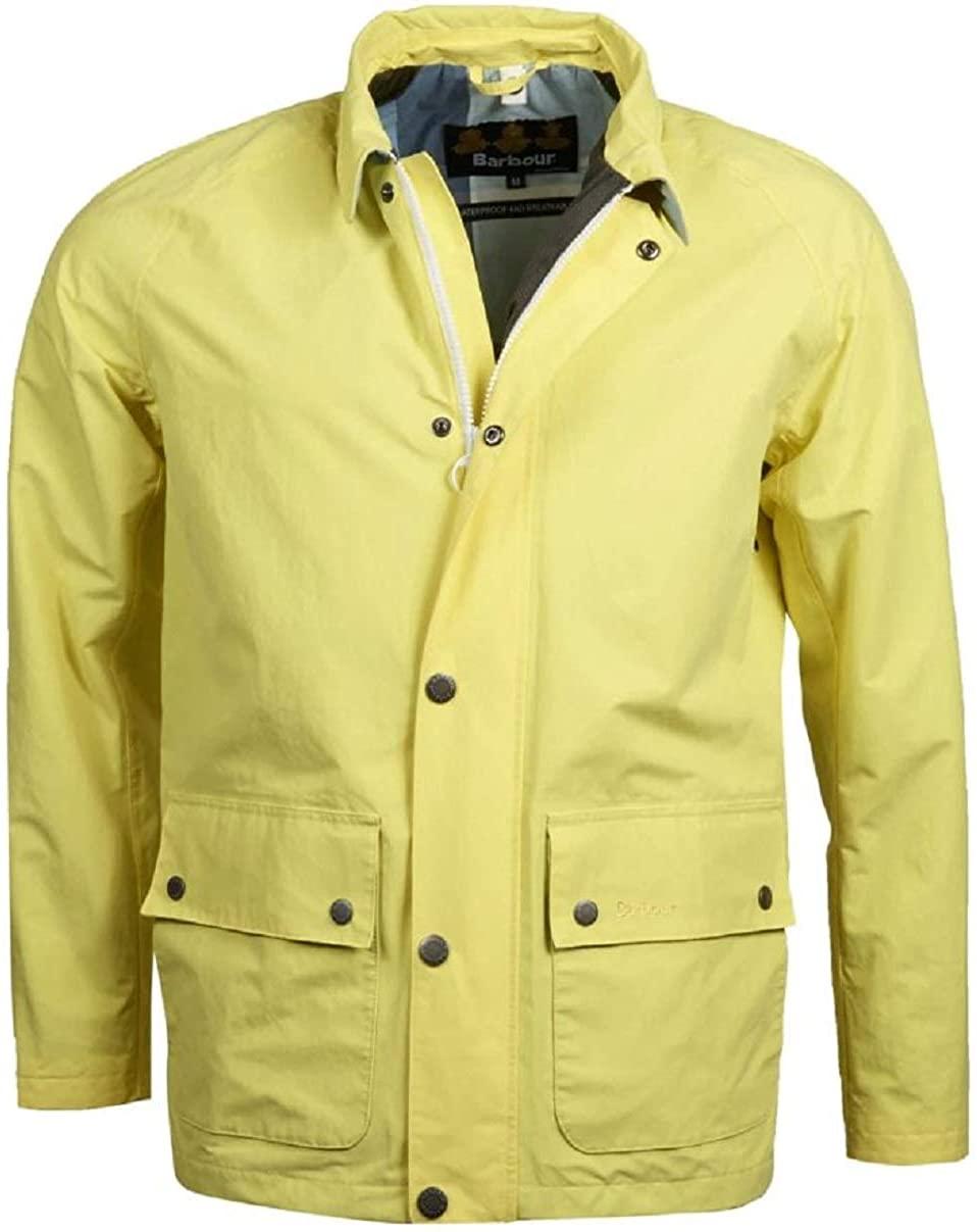 Barbour Men's Storrs Waterproof Jacket Yellow Small