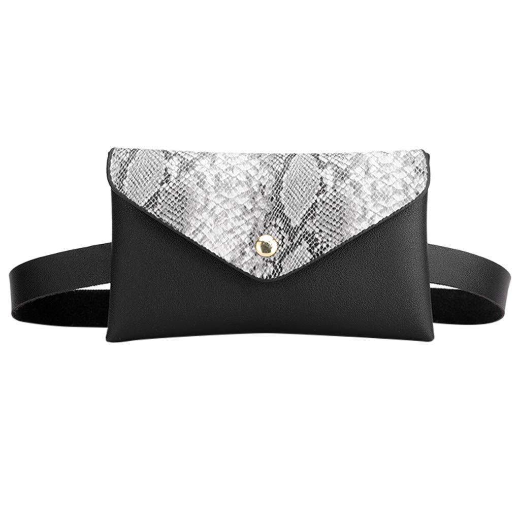 50% 0ff Snake Print Leather Fanny Packs For Women Girls - Designer Fashion Waist Purse Cash Phone Bag Crossbody Bags With Belt Waist Pouch