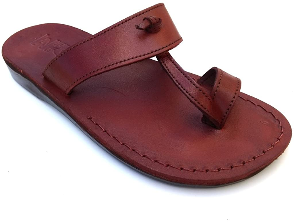 SANDALIM Men's Genuine Leather Sandals, Flip Flops, Biblical Sandals, Jesus Sandals, Empire Style
