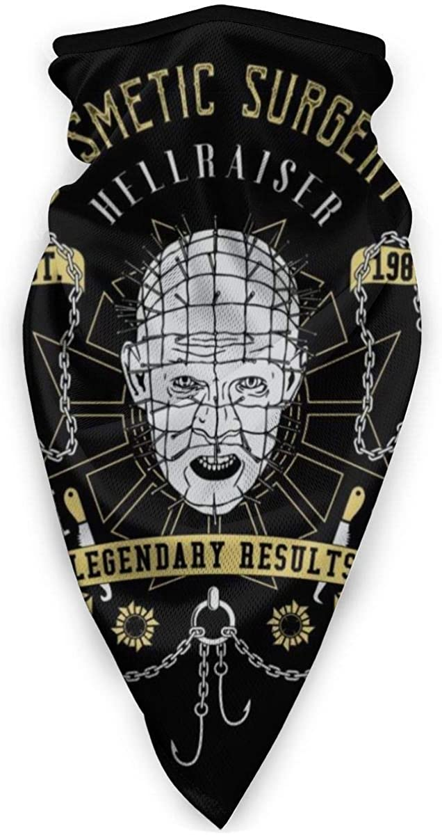 Hellraiser Cosmetic Surgery Face Mask Bandanas For Dust, Outdoors, Festivals, Sports
