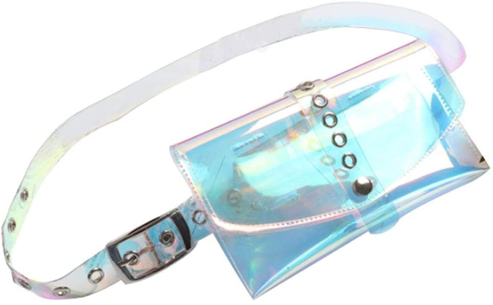 Fashion Cute Colorful Transparent Clear Holographic Waist Fanny Belt Packs Bags Phone Purse for Girls Women