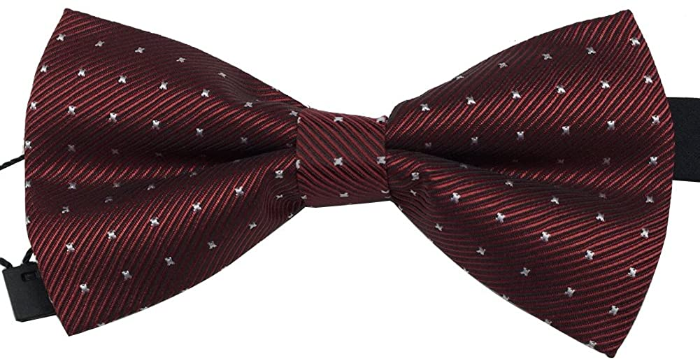 AINOW Mens Classic Pre-Tied Formal Bowties Tuxedo Bow Ties - Many Colors Available
