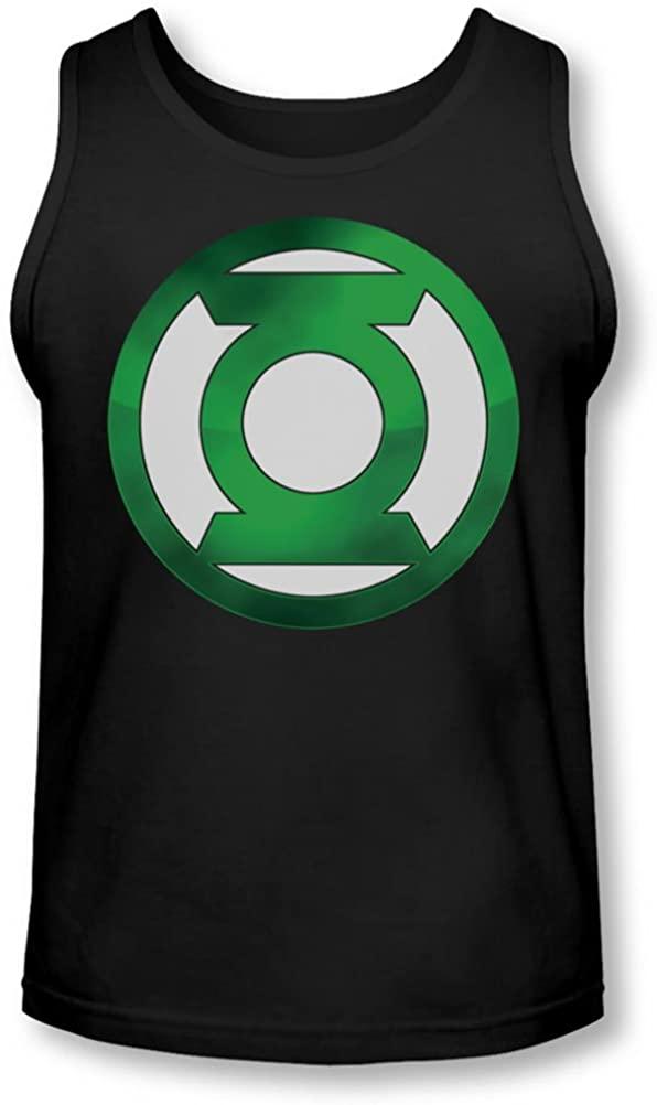 Green Lantern - Mens Green Chrome Logo Tank-Top