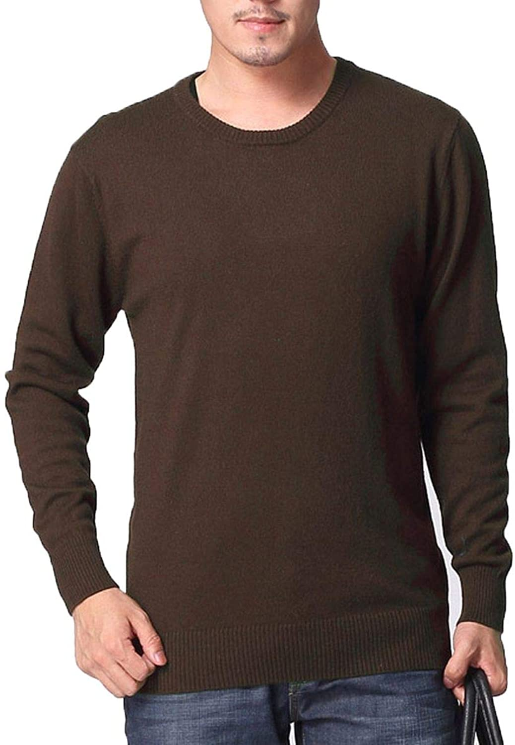 YBEERNSON Men O Neck Wool Cashmere Blended Sweater Pullover Mens Basic Sweaters