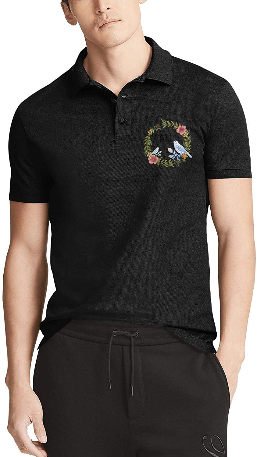 Welcome Owls- Cotton Polo Shirts for Men Simple Version Classic Color