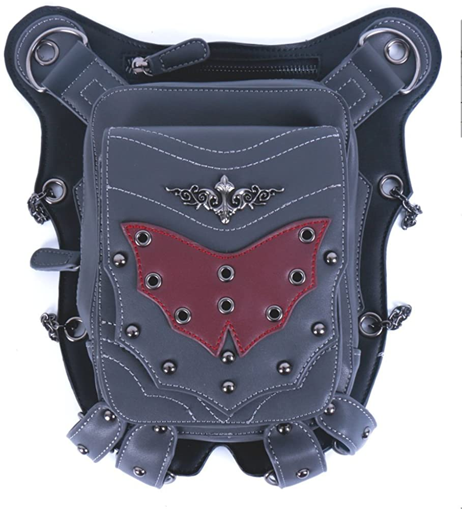 steel master Punk Shoulder Waist Bags PU Leather Leg Thigh Holster Bags for Women