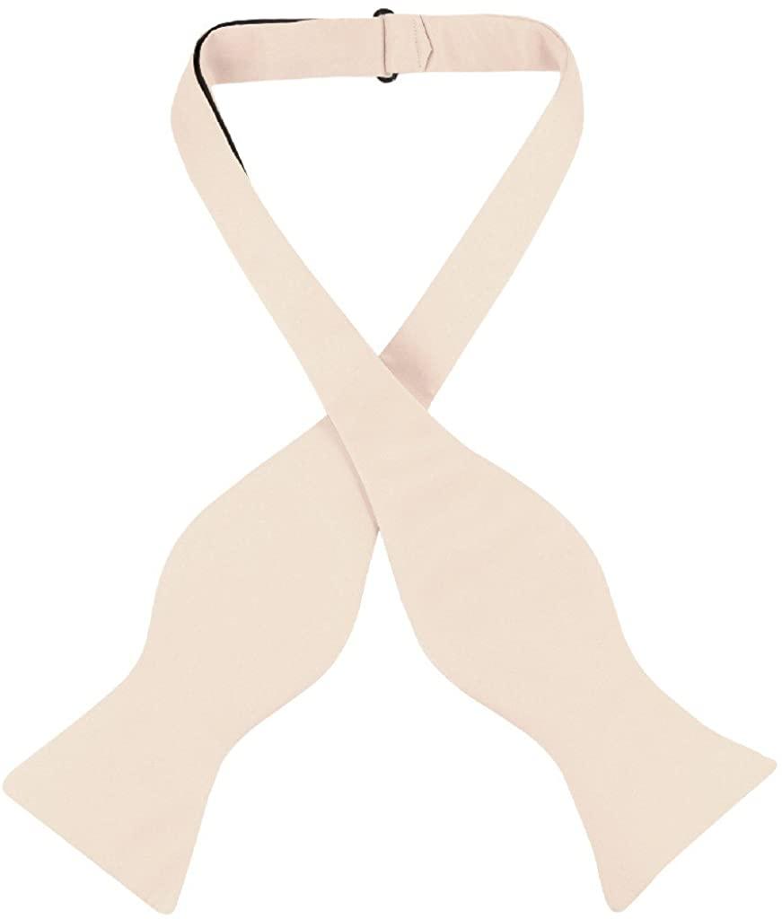 Vesuvio Napoli SELF TIE Bow Tie Solid LIGHT BROWN Color Men's BowTie