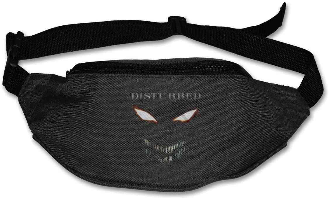 Ssxvjaioervrf Disturbed Scary Face Running Belt Waist Pack Runners Belt Fanny Pack Black