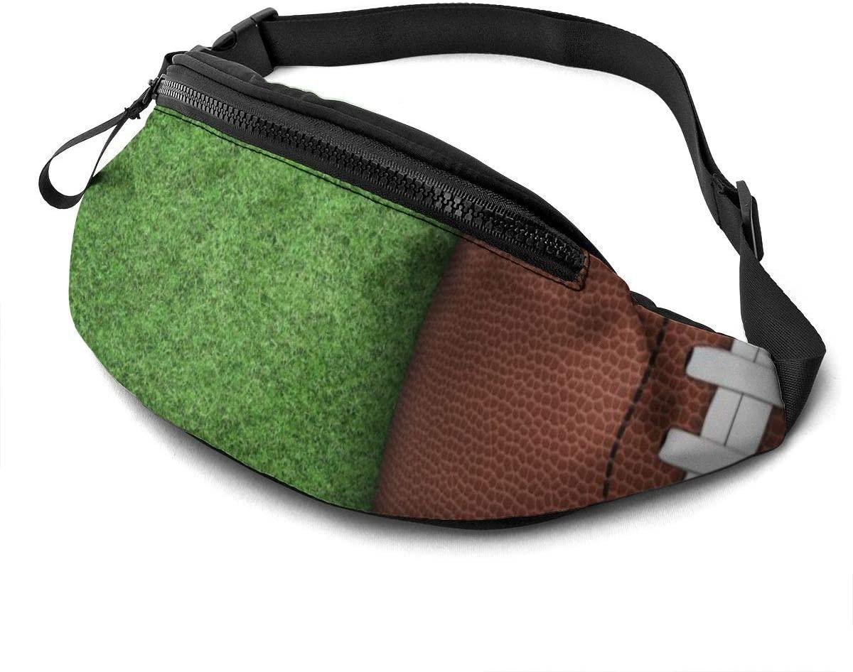 American Football-ball On Green Grass Fashion Casual Waist Bag Fanny Pack Travel Bum Bags Running Pocket For Men Women