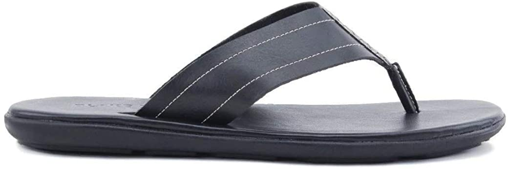 Blake McKay: Bradley Men's Casual Shoe Leather Thong Sandal. Slip-On Sandal with Woven Details, a Cushioned Footbed, and Durable Non-Slip Rubber Sole for All-Day Comfort.