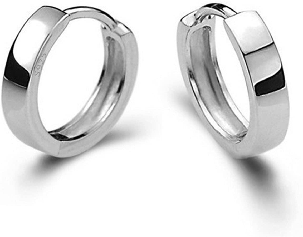 AMBESTEE Women Girls Fashion Jewelry 925 Diamond Rhinestones Sterling Silver Earrings Studs Set-About Half an Inch