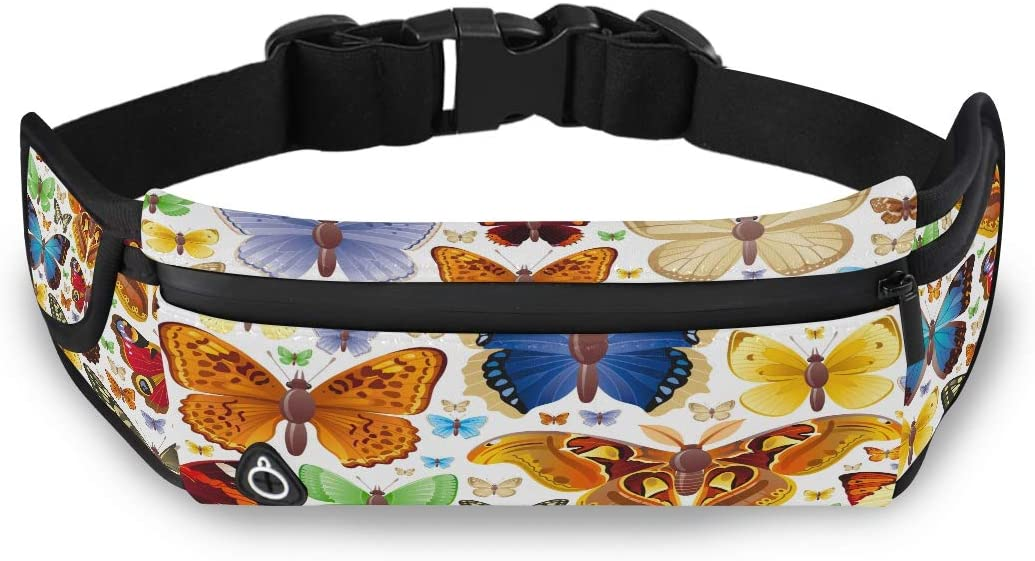 Seamless Vector Illustration Of Insects Icons Set Kids Waist Pack Fashion Fanny Pack A Fanny Pack For Women With Adjustable Strap For Workout Traveling Running