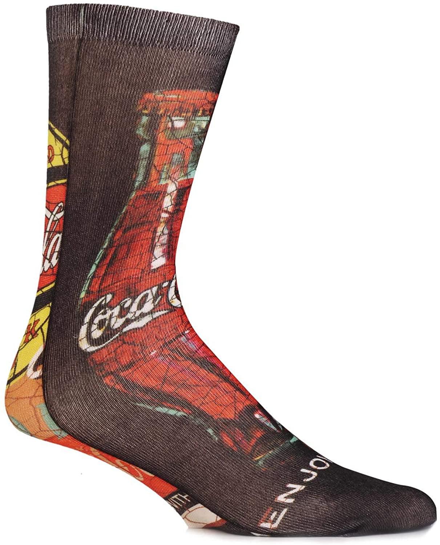 Coca Cola Men's 1 Pair Cracked Image Printed Socks