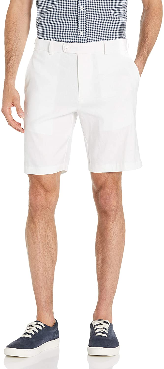 Cubavera Men's Linen-Blend Flat Front Shorts
