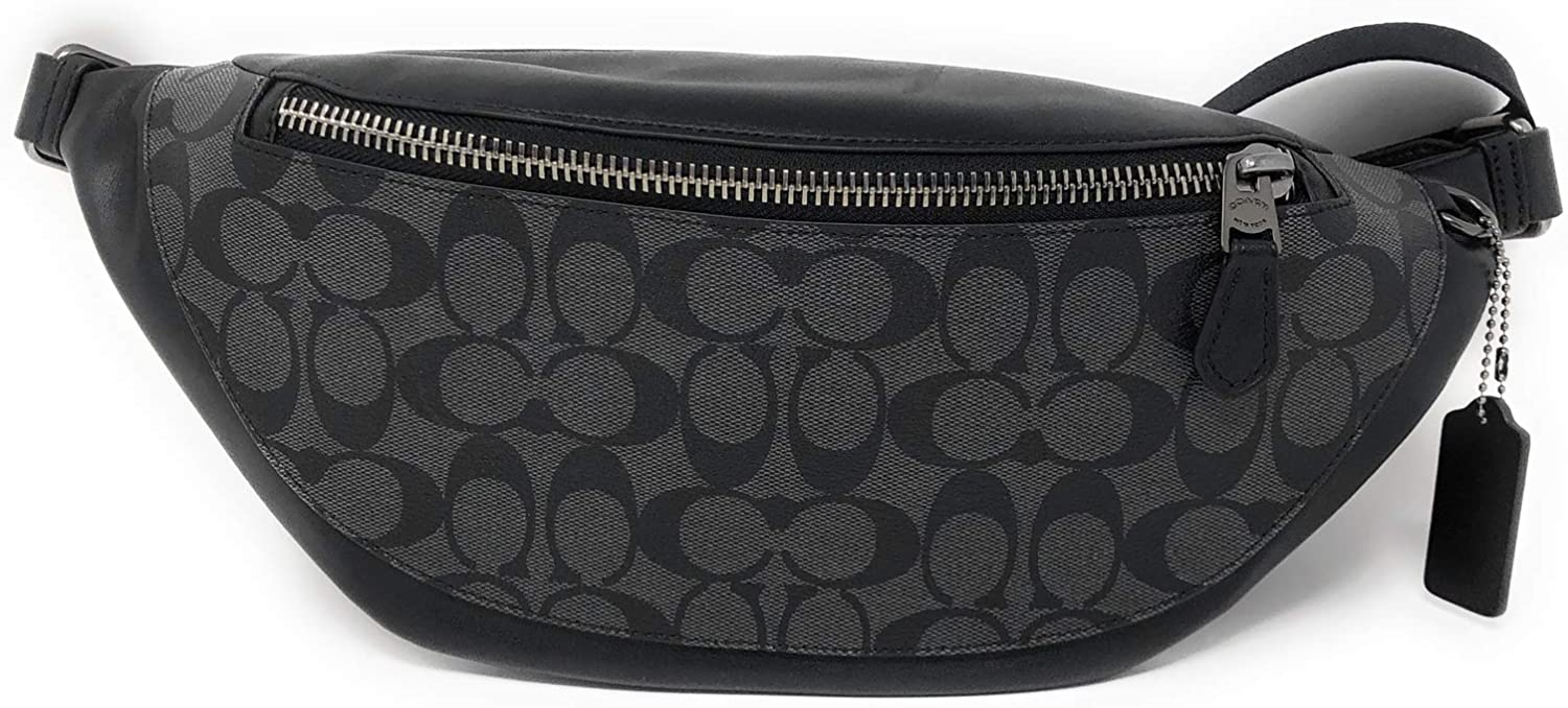 Coach Belt Bag Black Signature