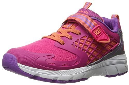 Stride Rite Kids Girls M2P Cannan Fabric Low Top Buckle, Pink, Size Toddler 9.5