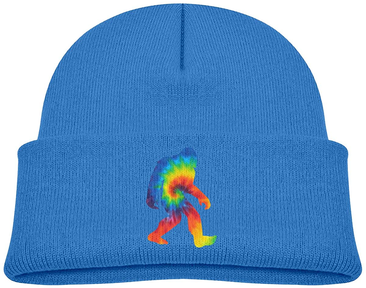 ZWZ Sasquatch Bigfoot Tie Dye Toddler's Hats Winter Knit Beanie Cap Skull Cap