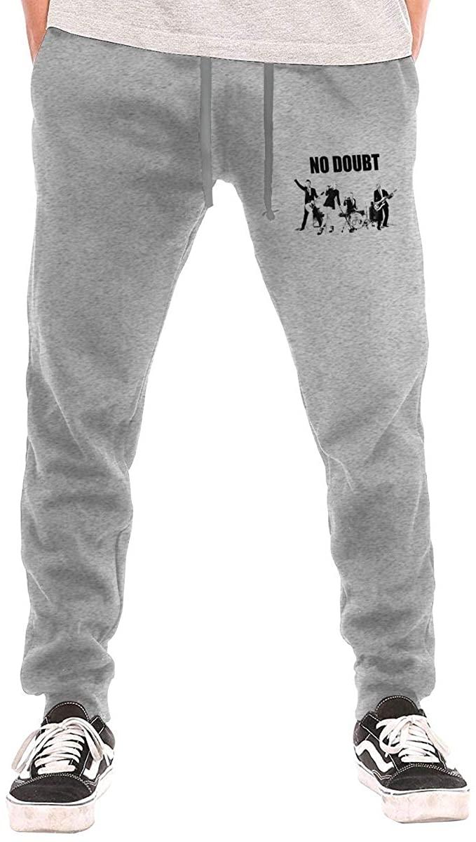 No Doubt Band Popular Men's Comfortable Drawstring Waist Long Pocket Track Pants