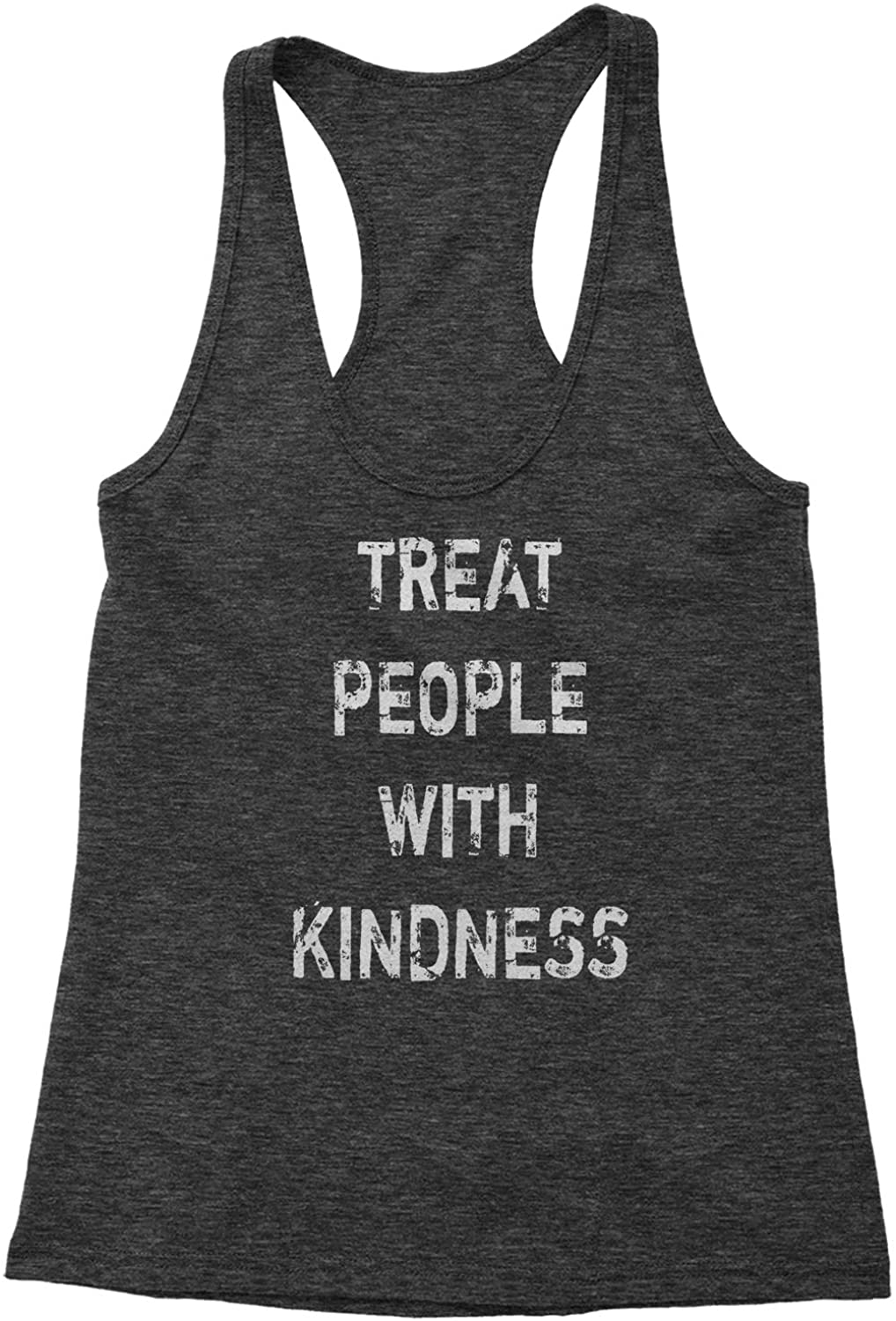 Expression Tees Treat People with Kindness Triblend Racerback Tank Top for Women