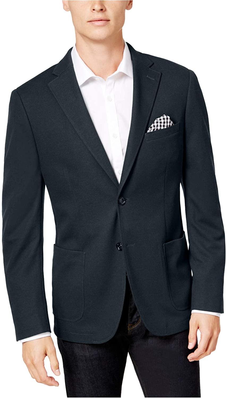 Bar III Mens Knit Sport Coat, Blue, 42 Regular