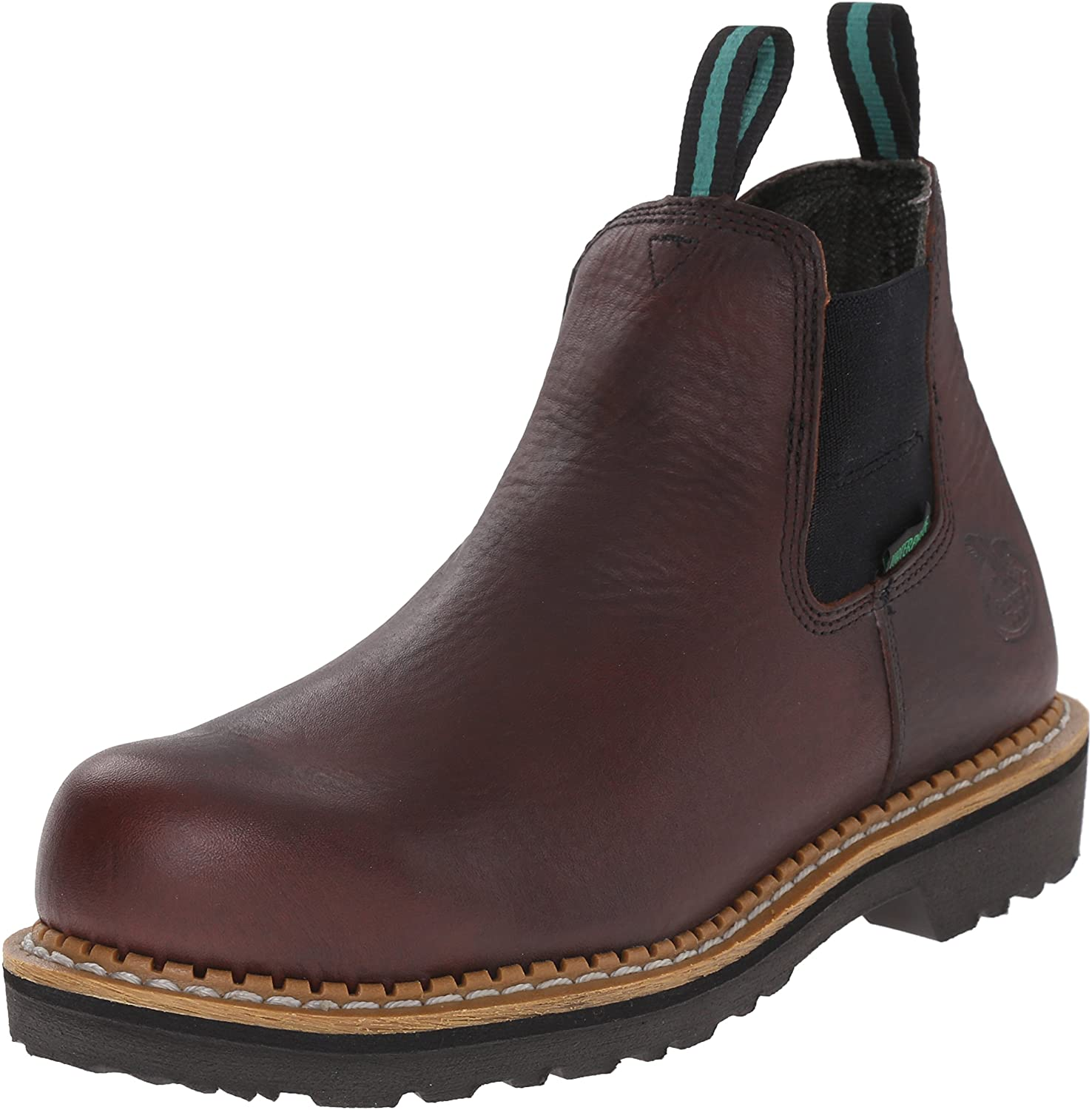 Georgia Boot Men's Giant Romeo Meel Toe Work, Soggy Brown, 9 M US