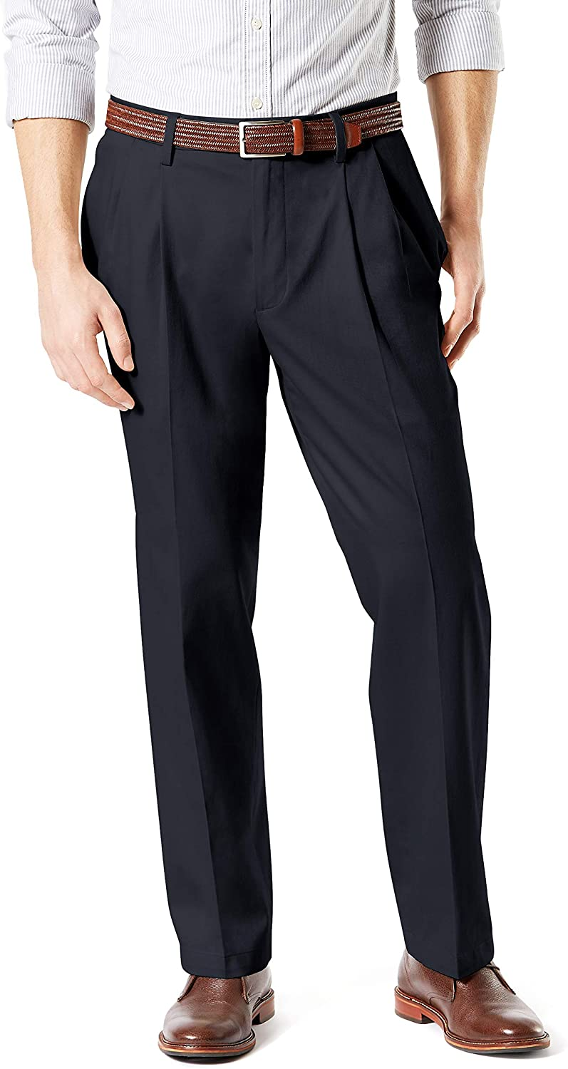 Dockers Men's Relaxed Fit Signature Khaki Lux Cotton Stretch Pants - Pleated