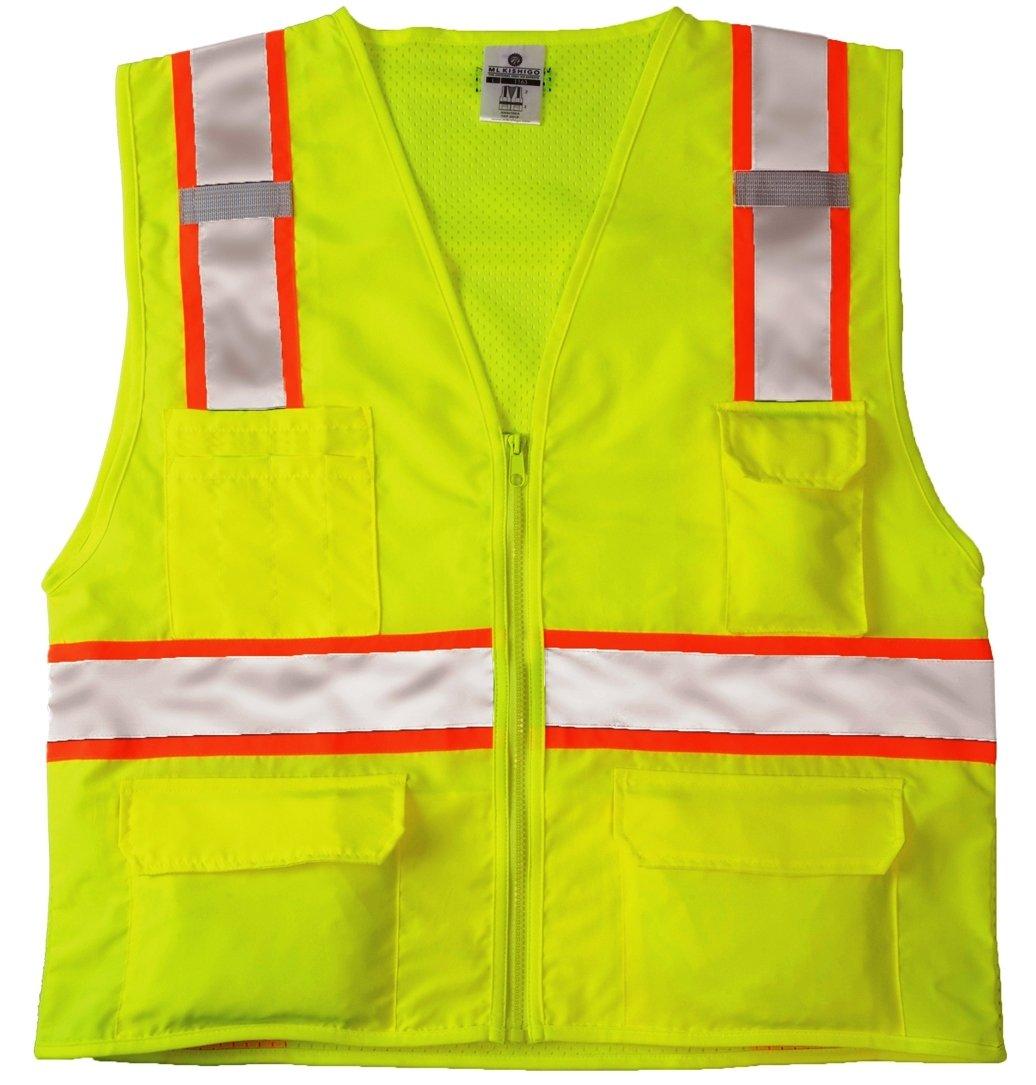 ML Kishigo 1163 Ultra-Cool Mesh Back Solid Front Vest, Large, Lime
