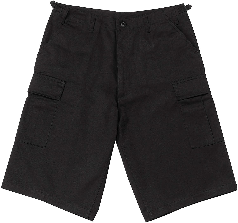 Rothco Longer Style BDU Short, Black, XX-Large