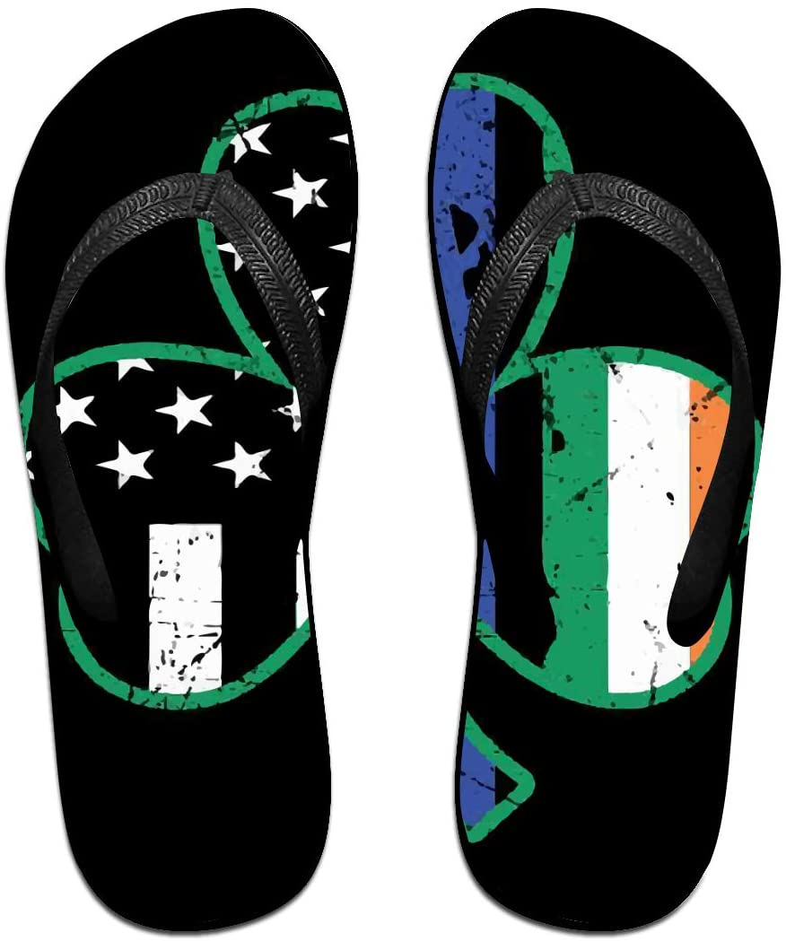 seaEagle Blue USA Flag Shamrock Slipper Flip Flop Shower Sandals