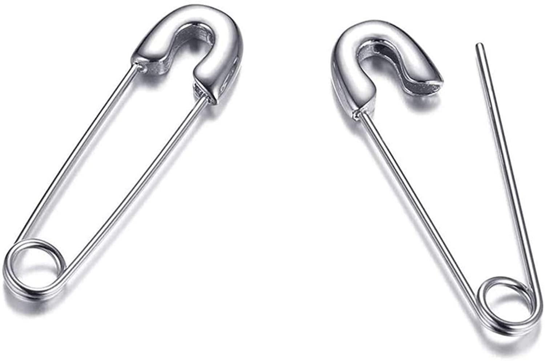 Stainless Steel Stylish Cartilage Earrings Punk Goth Hoop Earrings Stud Jewelry Gift for Women Men Couples