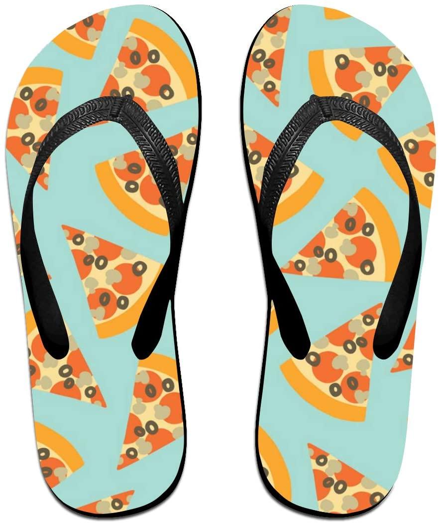 WAY.MAY Pizza Slice Pattern Unisex Flip Flops Slippers Open Toe Beach Sandal