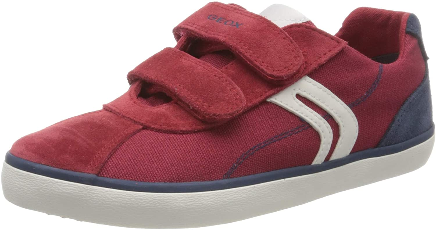 Geox J Kilwi Boy Trainers Boys Red/Blue Low Top Trainers Shoes