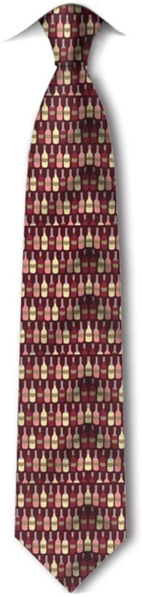 Wine Bottle Pattern Men'S Tie Hipster Leisure Neckties