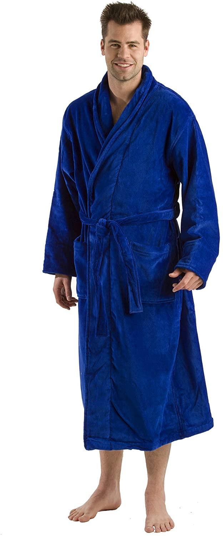 byLora, Cotton Adult Shawl Collar Robe, Bathrobe, 400 GSM Terry Cloth