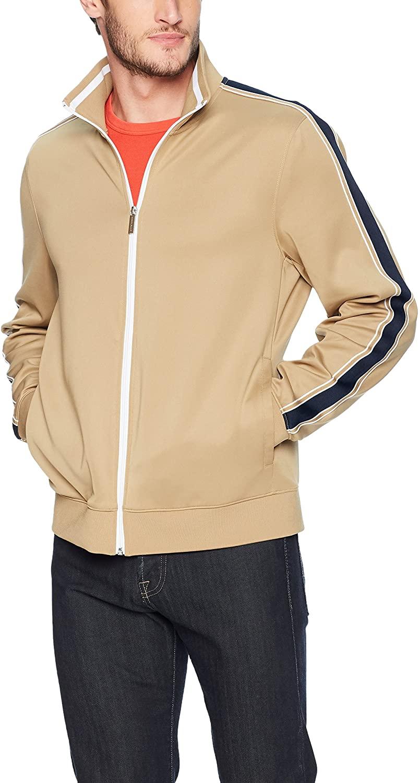 Perry Ellis Men's Solid Edge Striped Jacket